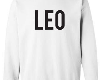 Leo Zodiac Unixes Men and Women Crew neck Sweatshirt
