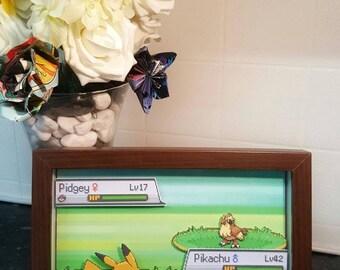 Pokemon Battle 3D Shadow Box Diorama (8x10)