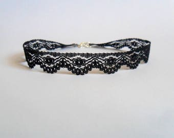 Black choker necklace, Black lace choker, Boho jewerly, Jewerly, Gift for teen, Gift for her, Lace, Birthday gift, Free shipping, Necklace