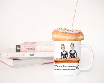 Romy & Michele Coffee Mug / 90s Mug / Coffee Mug / Coffee Cup / Pop Culture Mug / Unique Mug / Girl Boss Mug / Quote Mug / Ceramic Mug