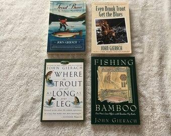 John Gierach Fly Fishing Book Lot - 4 Books
