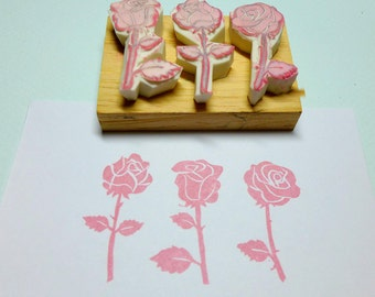 Rose Prints Rubber Stamp