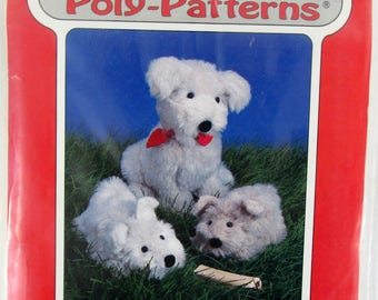 Poly-fil Poyly-Patterns Penny & Pup D-208 unused and uncut