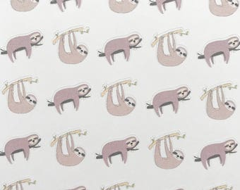 sloth planner stickers, sloth stickers, animal stickers