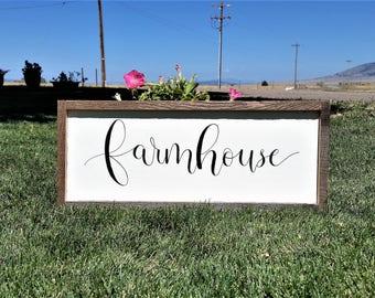 Farmhouse wood sign.