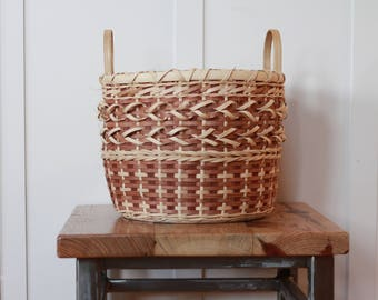 Natural Soumak Reed & Sea Grass Basket