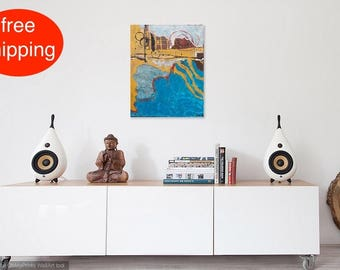 "Acrylbild, Malerei, Gemälde, Abstrakt, ""Holiday"", acrylic painting, Acryl auf Leinwand, Original, Modern, Handgefertigt"