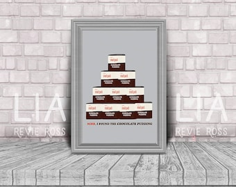 Mike! I found the chocolate pudding! - Dustin, Stranger Things Pudding Stack, Digital Print TWO SIZES