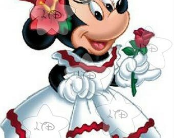 Minnie Christmas Personalized Transfer