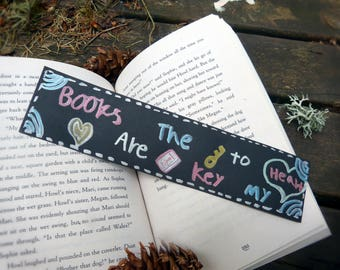 Books Are The Key To My Heart Bookmark