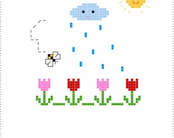 Cross Stitch Pattern Cute Garden
