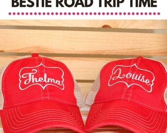 Thelma & Louise Embroidered Trucker Hats | Best Friend Hats