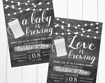 Brewing Couples Shower Invitation