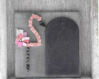 Mosaic tile 9, 5cmx9, 5 cm flamingo