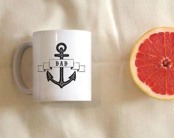 Dad Anchor Coffee Mug