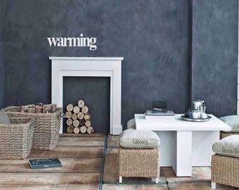 Warming - Wall sticker, wall decor, wall art, door sticker, glass sticker, word sticker, wall decal, phrase sticker, phrases, wall word