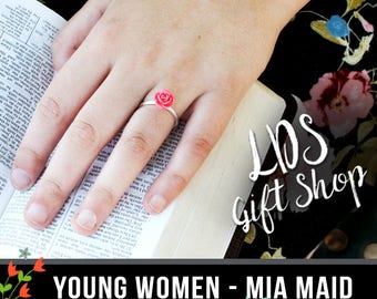 Young Women Mia Maid Adjustable Ring LDS YW