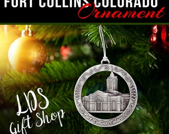 Fort Collins Colorado Temple Ornament