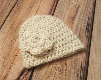 Flower Beanie Hat
