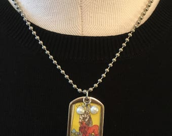 Tarot necklace with Strength
