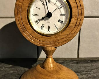 Oak Desk Clock