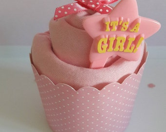 It's a girl baby vest cupcake