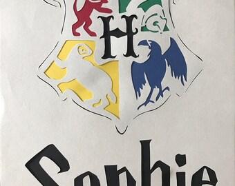 Personalized Harry Potter Hogwarts Crest