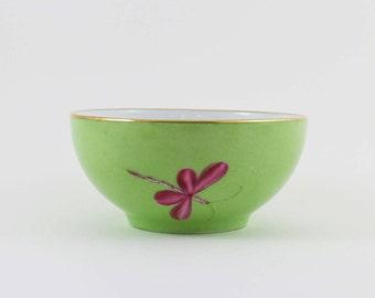 Limoges porcelain bowl, green