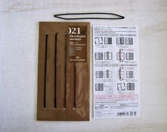 Genuine Traveler's Notebook Insert- (021)CONNECTING RUBBER BANDS -Midori- Regular Size, Travel Journal, Traveler's Company