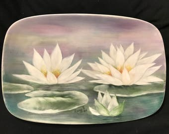 Water Lily Rectangular Plate