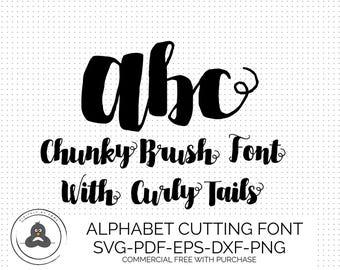 SVG Fonts, Hand Lettered SVG, Brush Font SVG Fonts for Cricut Svg Bundles, Cursive Font Svg, Cameo Fonts for Silhouette, Script Svg Font