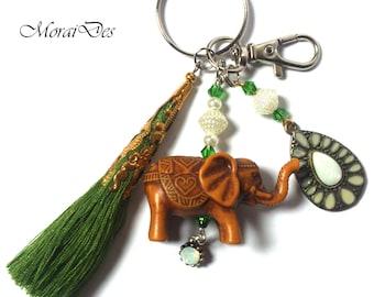Keychain Elephant - Keychain Animal - Keychain Tassel - Diamond Pendant - Fashion Keychain - Gift For Girls / Gift Women - Car Keychain