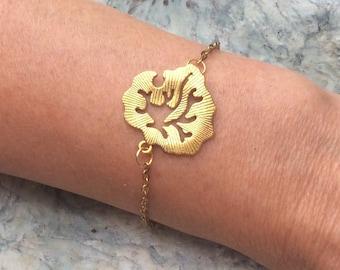 Tibetan gold leaf bracelet/anklet