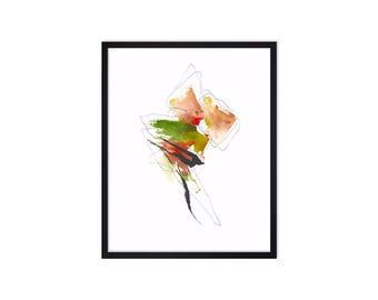 Abstract Art Print - Abstract Painting - Watercolor Painting - Abstract Watercolor Paintings -  Map Art Print - Original Art