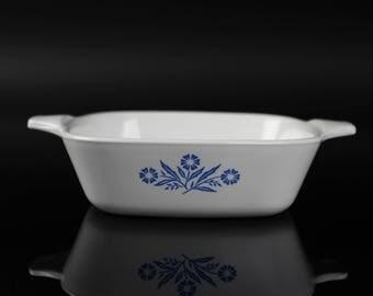 Corning Ware P-41-B casserole dish - Blue cornflower pattern - vintage