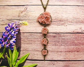 flower necklace polymer clay jewelry making Floral pendant unique necklaces for women necklace polymer clay
