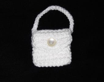 wedding favour, crocheted mini purse