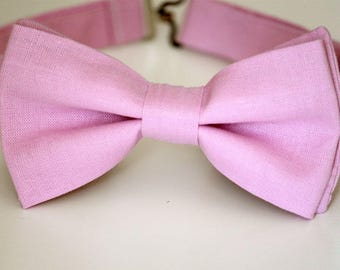 Rose pink bow tie, pink wedding bow tie, mens bow tie, boys bow tie, groomsmen bow tie, groom bow tie, ring boy bow tie, pageboy outfit