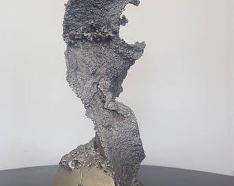 1960s Brutalist Metal Sculpture