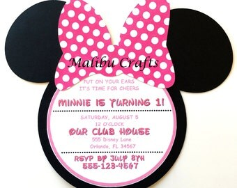 20 Minnie Mouse Inspired Birthday Invitations DIY