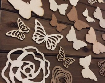 Wooden butterfly guestbook
