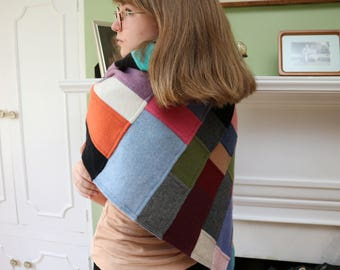 """22.5"""" x 86"""" Recycled Cashmere Shawl"""