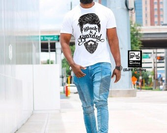 Black & Bearded Tshirt