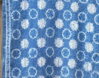 007 - Natural Hand Dyed Indigo Shibori Fabrics by Bio Method