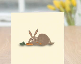 Sun Bun - Cute and Quirky Rabbit Card (Blank Inside/Any Occasion)