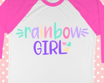 Rainbow girl svg - Magical svg - Unicorn svg - 100 days svg - Easter svg - Spring svg - SVG for girls - Shirt SVG , dx f, pdf , png , eps