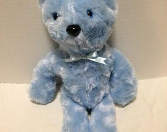 Furry Blue Teddy Bear