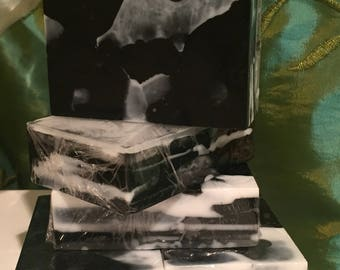 Soap Bar, Activated Charcoal Soap, Handmade, Lux Soap Bar, Bay Rum and Vanilla Scented with Essential oils