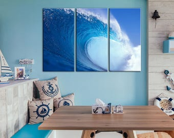 Ocean Wave Wall Art Canvas Print Wall Decor Canvas Wall Art Large Canvas Art  Home Decor