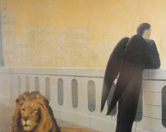 Magritte, René Magritte  Print, Magritte Art Print, Magritte Paintings, Vintage Book Page Print, Home decor, Wall decor, Vintage